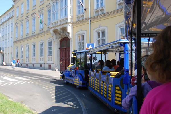 The Széchenyi Square by sightseeing train